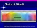 choice of stimuli35