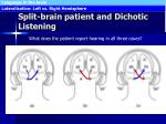 split brain patient and dichotic listening