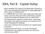 idea part b capital outlay
