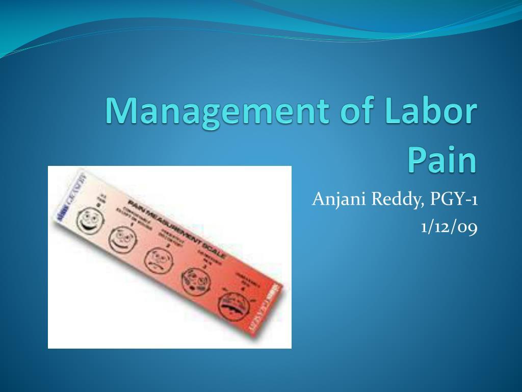 management of labor pain l.