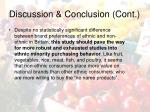 discussion conclusion cont