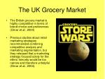 the uk grocery market