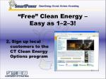 free clean energy easy as 1 2 322