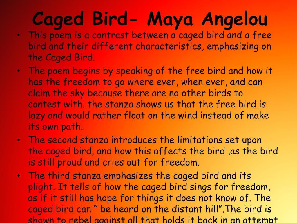 caged bird maya angelou l.