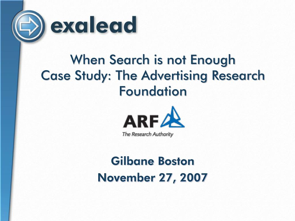 when search is not enough case study the advertising research foundation l.