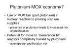 plutonium mox economy
