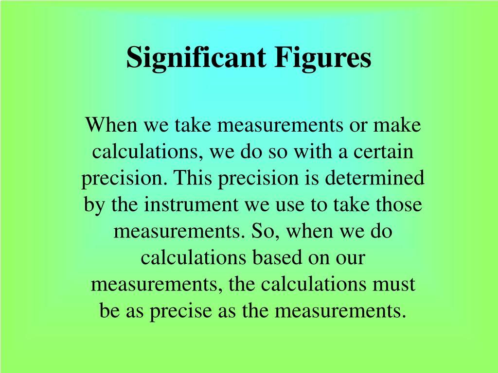 significant figures l.