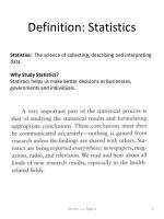 definition statistics