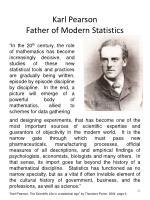 karl pearson father of modern statistics