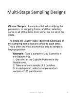 multi stage sampling designs