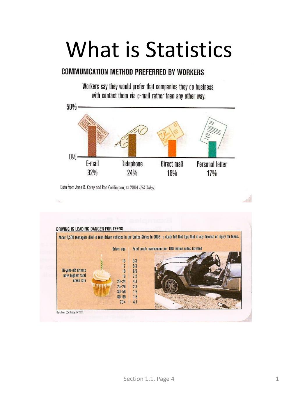what is statistics l.