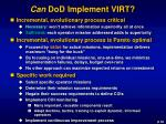can dod implement virt