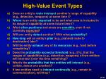 high value event types