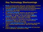 key technology shortcomings