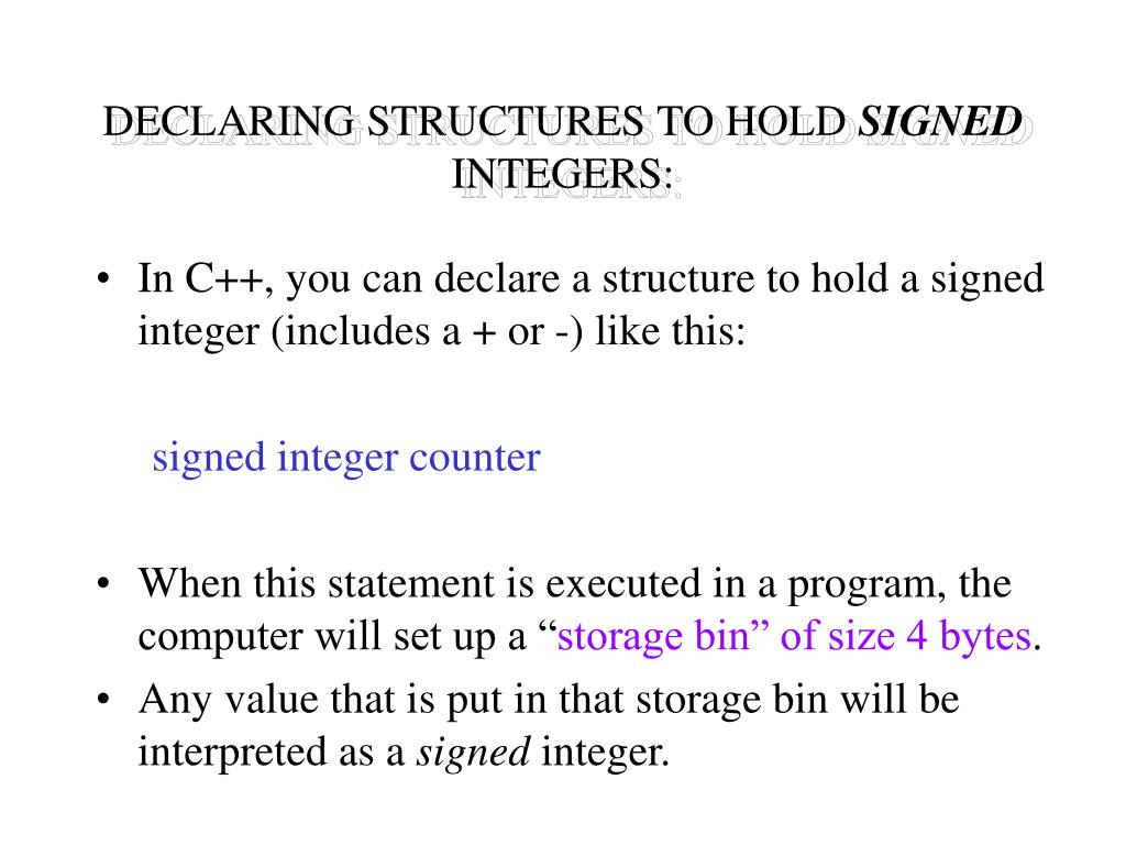 DECLARING STRUCTURES TO HOLD