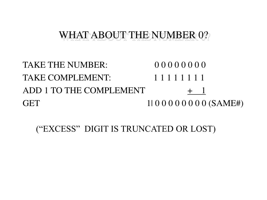 WHAT ABOUT THE NUMBER 0?
