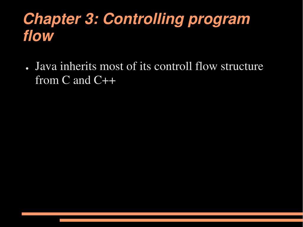 chapter 3 controlling program flow l.
