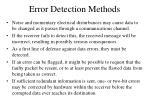 error detection methods
