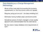data modeling as a change management methodology