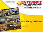 line testing software
