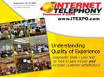 understanding quality of experience