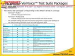 verivoice test suite packages