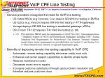 voip cpe line testing