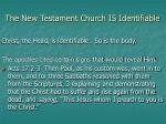 the new testament church is identifiable10