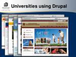 universities using drupal27