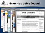 universities using drupal29