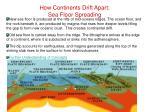 how continents drift apart sea floor spreading