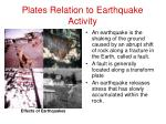 plates relation to earthquake activity