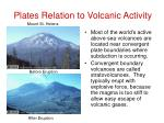 plates relation to volcanic activity