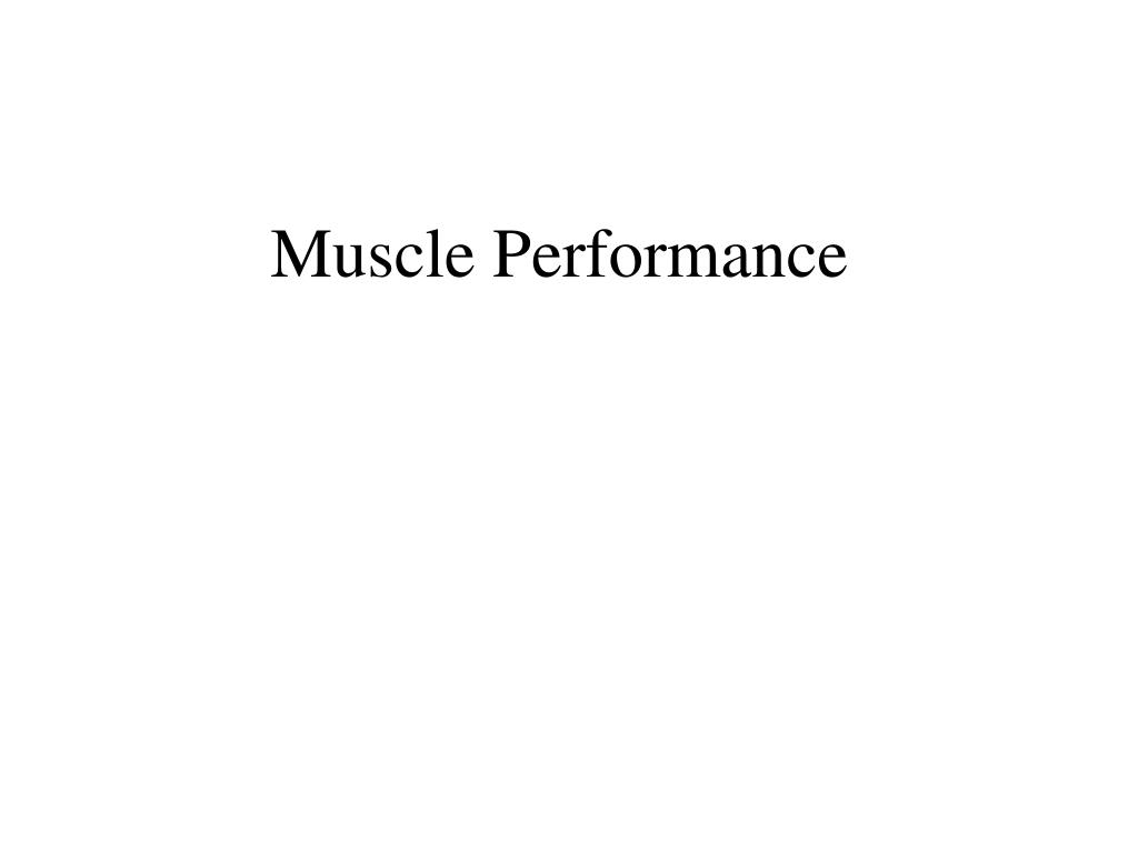 muscle performance l.