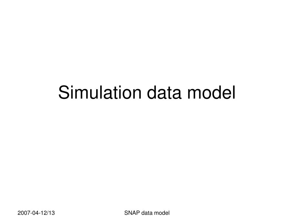 simulation data model l.
