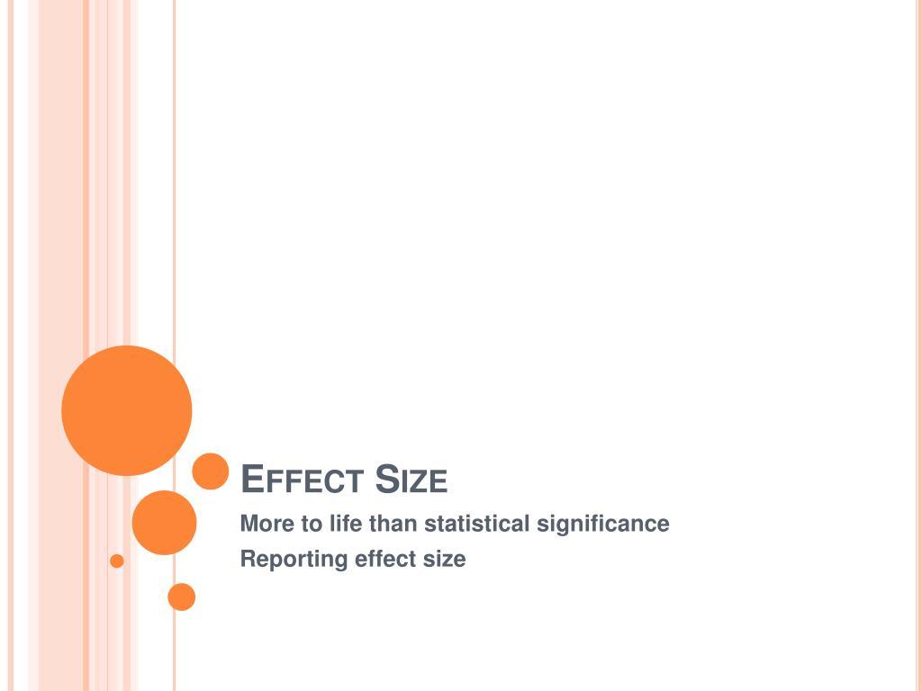 effect size l.