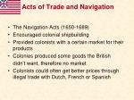 acts of trade and navigation