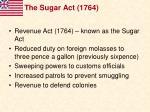 the sugar act 176420