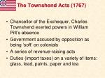 the townshend acts 1767