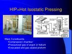 hip hot isostatic pressing