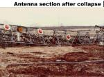 antenna section after collapse