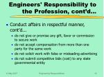 engineers responsibility to the profession cont d16