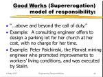 good works supererogation model of responsibility