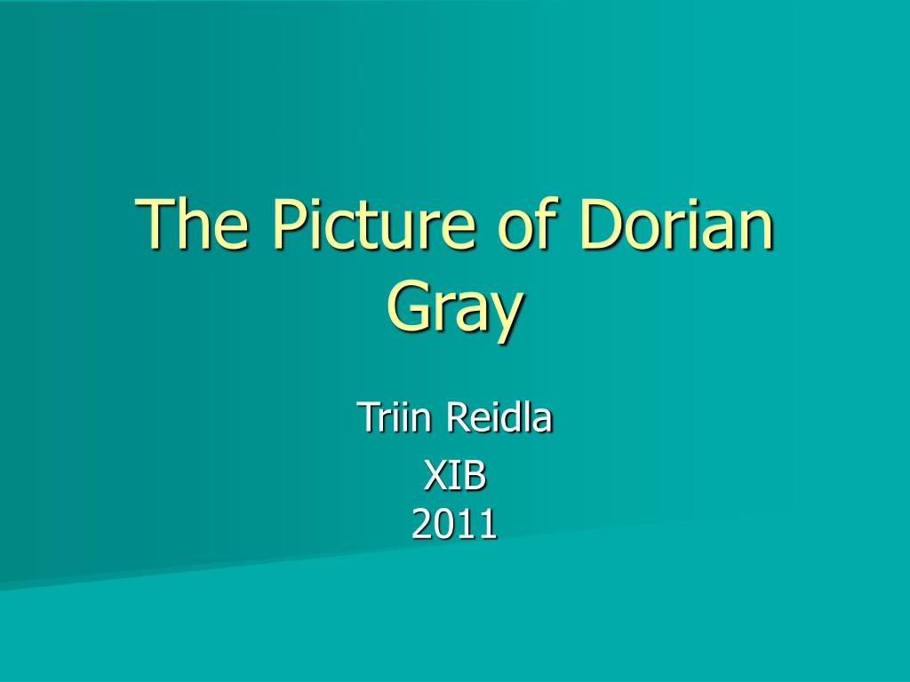 the picture of dorian gray l.