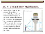 ex 3 using indirect measurement