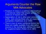 arguments counter the raw milk advocates