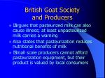 british goat society and producers