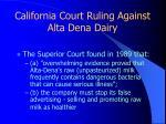 california court ruling against alta dena dairy