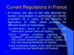 current regulations in france