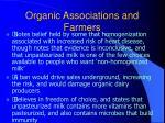 organic associations and farmers41